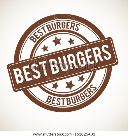 BEST BURGERS rubber stamp isolated on white background. - stock vector