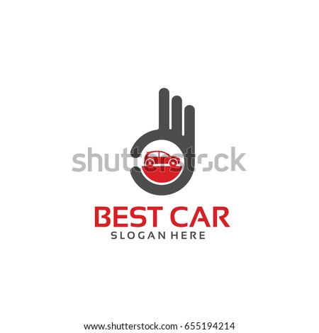 Best Car Logo Template Hand Gesture Stock Vector Royalty Free