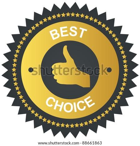 Best choice golden vector label - stock vector
