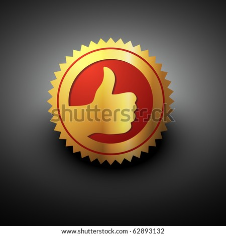 best choice label in golden color - stock vector