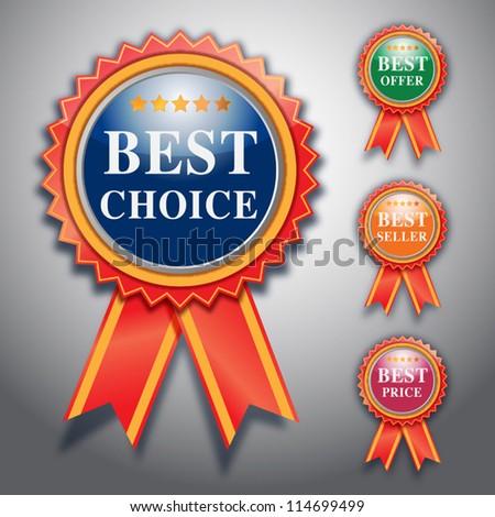 best choice label, vector design. - stock vector