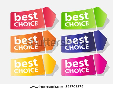 Best Choice Label Vector Illustration EPS10