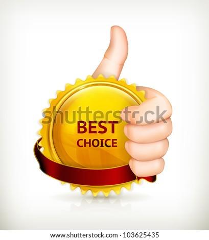 Best choice, vector - stock vector