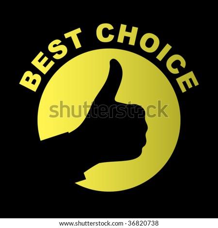 Best choice. Vector element. - stock vector
