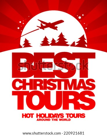 Best Christmas tours design template.