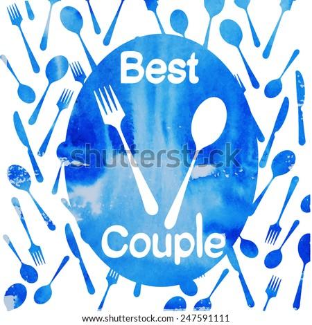 best couple - stock vector