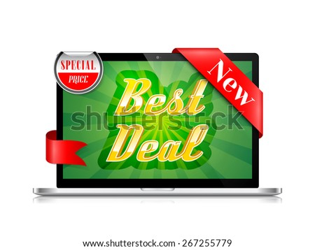Best Deal Banner Vector Design - stock vector