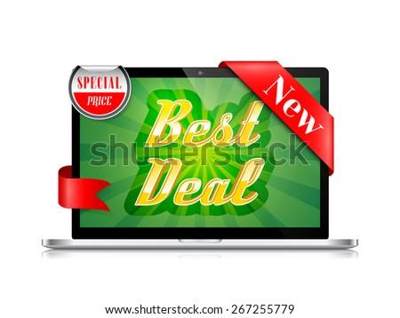 Best Deal Banner Vector Design - stock vector