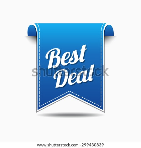 Best Deal Blue Vector Icon Design