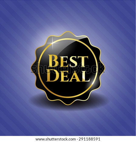 Best Deal dark badge - stock vector