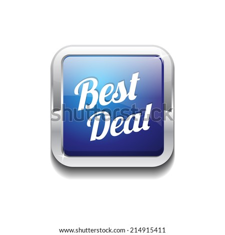 Best Deal Glossy Shiny Rounded Corner Vector Button - stock vector
