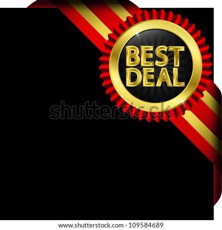 Best Deal Golden Label Vector Illustration Stock Vector 120513475 ...