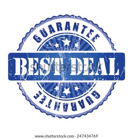 Best Deal Guarantee Stamp.  - stock vector