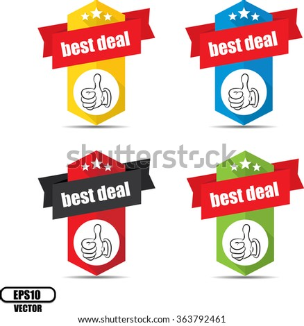 Best deal label and sign - Vector illustration - stock vector
