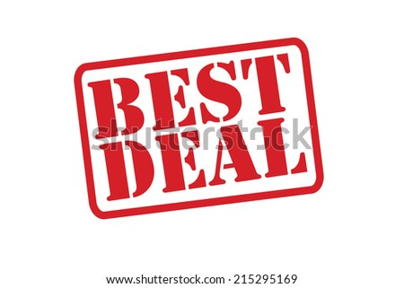 BEST DEAL Red Rubber Stamp vector over a white background. - stock vector