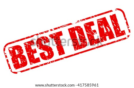 BEST DEAL red stamp text on white - stock vector