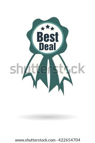 Best Deal Ribbon Icon Art Web Stock Vector 422654704