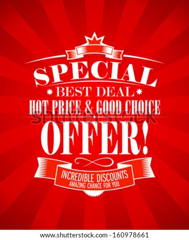 Best Deal Special Offer Design Template Stock Photo Photo Vector
