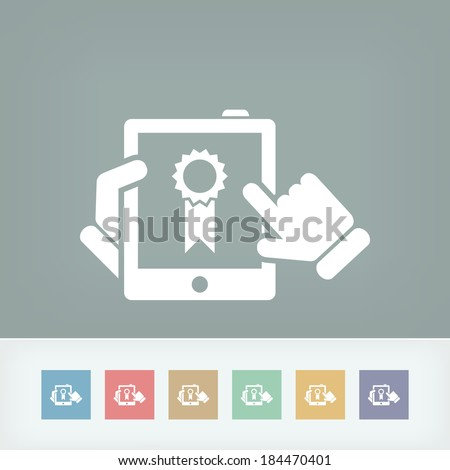 Best device icon - stock vector