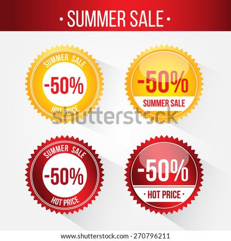 Best Discount Labels. Price sign icon. Special offer symbol. Stars stickers. Certificate emblem labels. Vector. Tags. Stickers for sale messages. Commercial elements and badges with sale messages. - stock vector