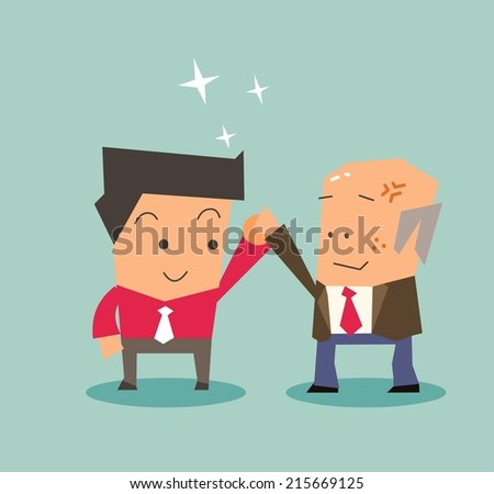Best employee deserve it. Flat vector illustration - stock vector