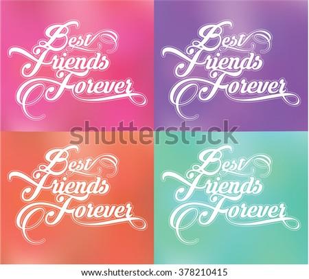 Best Friends Forever - stock vector