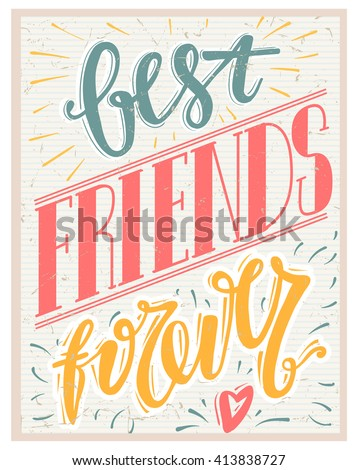 Best Friends Forever Text On Paper 413838727