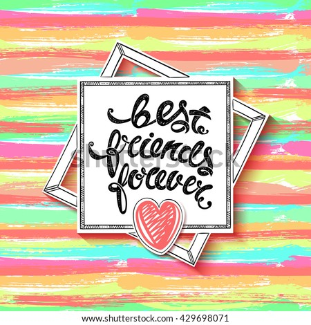 Best friends forever vector greeting card stock vector 429698071 best friends forever vector greeting card hand drawn letters eps10 m4hsunfo