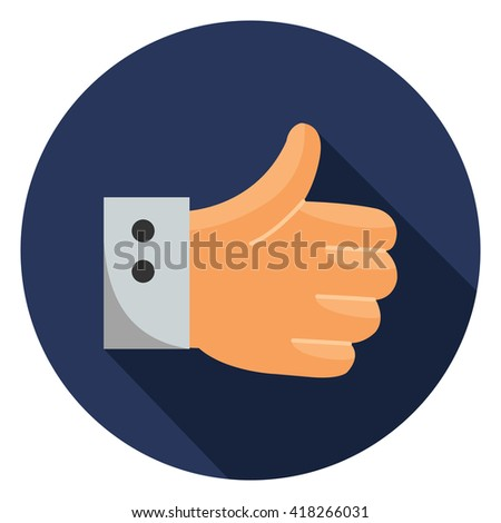 best hand like ok yes icon - stock vector