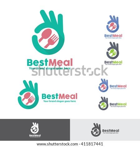 Best Meal Food Logo - stock vector