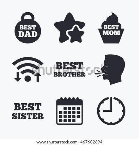 Best Mom Dad Brother Sister Icons Stock Vector 467602694 Shutterstock
