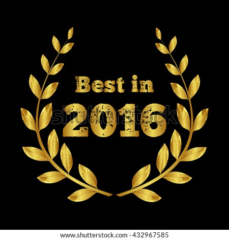 Best of 2016. Golden laurel wreath. Award