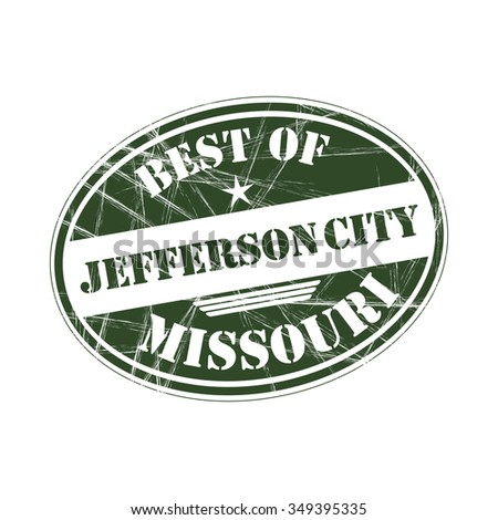 Best of  Jefferson City grunge rubber stamp against white background