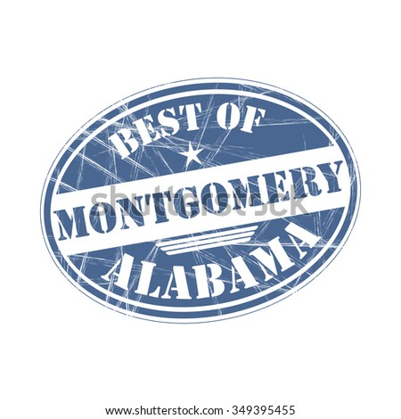 Best of Montgomery grunge rubber stamp against white background
