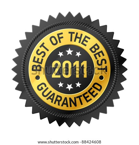 Best of the Best 2011 label. Vector. - stock vector