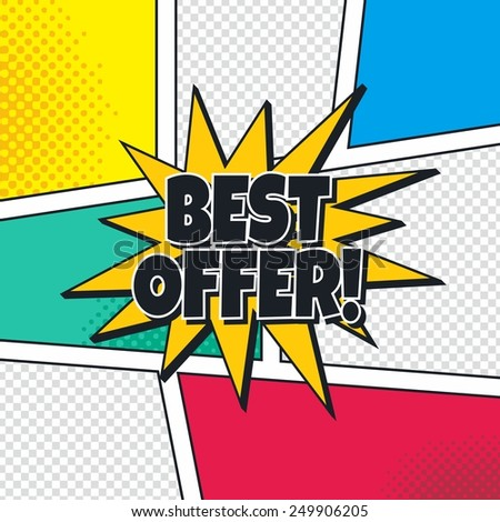 best offer cartoon theme blasting speech - stock vector