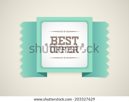 Best Offer retro badge. Vector - stock vector