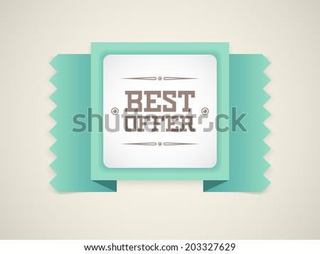 Best Offer retro badge. Vector - stock vector