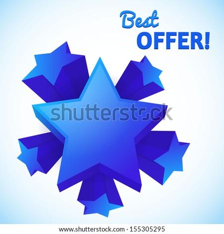 Best offer set of stars - stock vector
