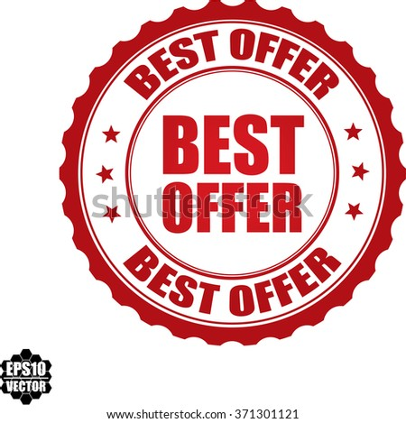 Best offer stamp.Vector. - stock vector