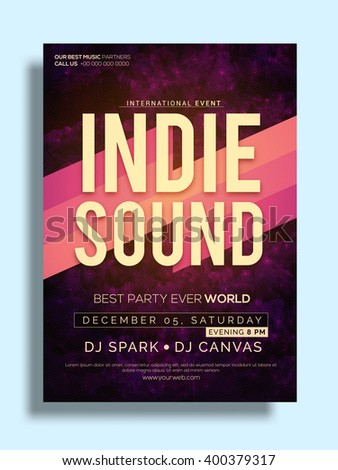 best party flyer musical party template party banner design with date and time details