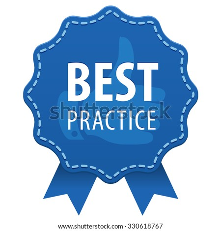 Best Practice Blue Label Seam Ribbons Stock Vector 330618767