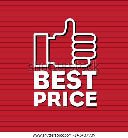 best price design over red background vector illustration - stock vector