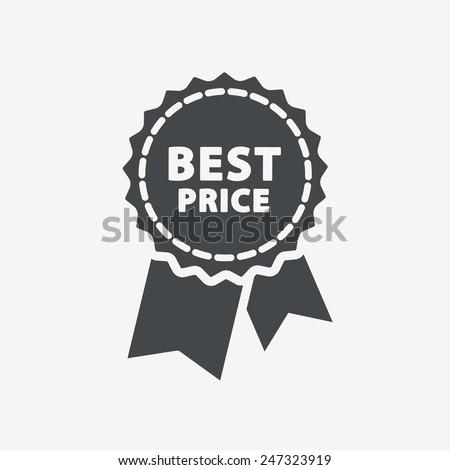 Best price guarantee label icon. - stock vector