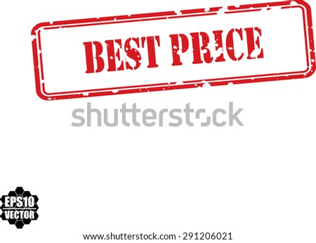 Best price red grunge rubber stamp on white background, vector - stock vector