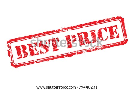 Best price rubber stamp vector illustration. Contains original brushes - stock vector