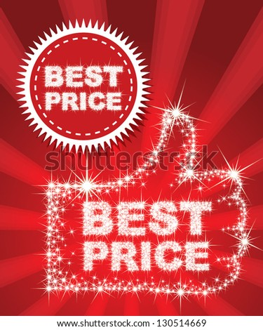 Best Price Set - combine by sparkle star - stock vector