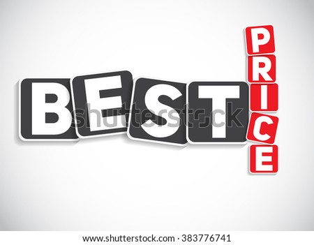 best price sign template vector illustration stock vector 383776741