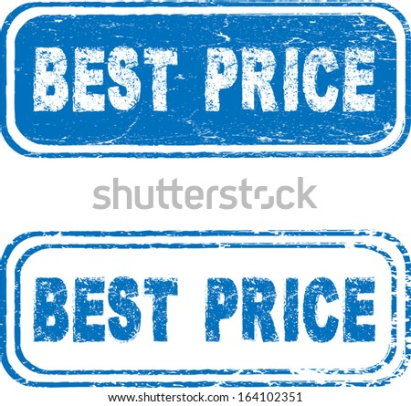 Best price stamps - stock vector