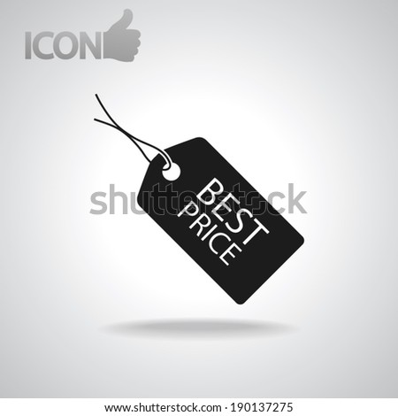 Best PRICE tag icon, vector illustration. Flat design style  - stock vector